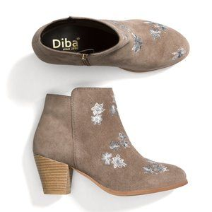 Diba Sami Suede Embroidered Bootie